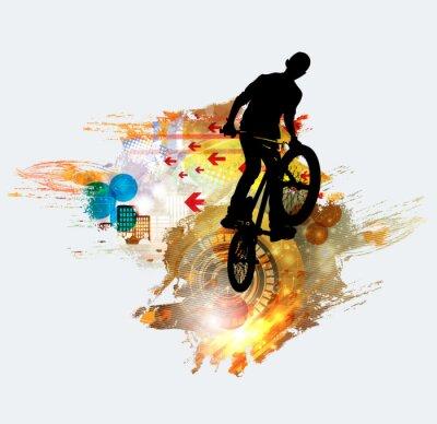 Adesivo Silhueta de jumper de bicicleta