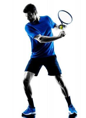 Adesivo silhueta do homem jogador de tênis de jogo