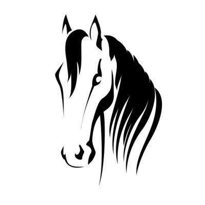 Adesivo Silhueta do vetor de uma cabeça de cavalo