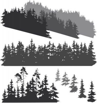 Adesivo Silhuetas da floresta