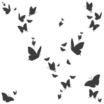 Adesivo Silhuetas de borboletas