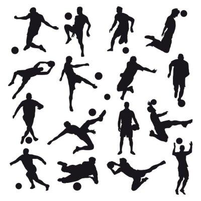 Adesivo Silhuetas de futebol