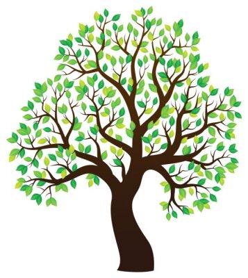 Adesivo Silueta, árvore, árvore, tema