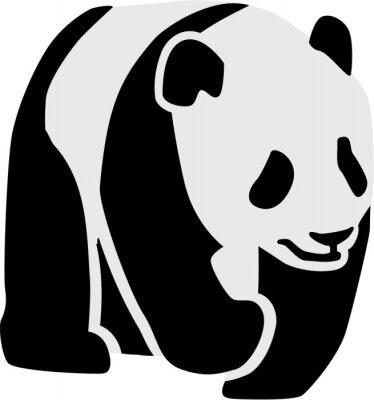 Adesivo Silueta, panda