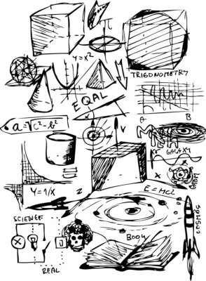Adesivo símbolos matemáticos