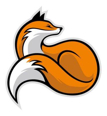 Adesivo simples raposa