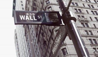Adesivo Sinais na interseção de Wall e Broadway Streets