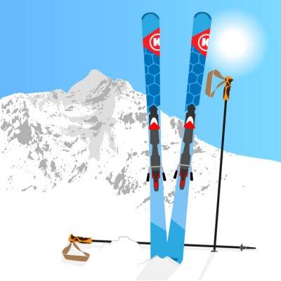 Adesivo Ski e snowboard resto 01