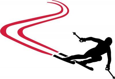 Adesivo Ski Run com Red Pista