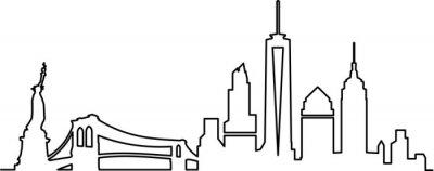 Adesivo Skyline da cidade de Nova York