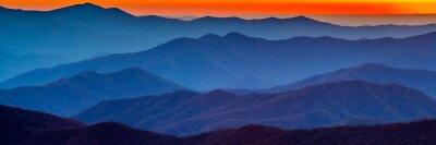 Adesivo Smoky montanha pôr do sol