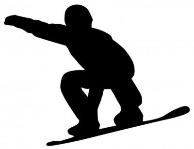 Adesivo Snowboarder