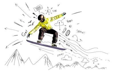 Adesivo Snowboarding