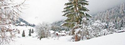 Adesivo Snowy montanha no inverno