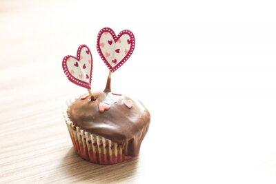 Adesivo Sobremesa de muffin de chocolate