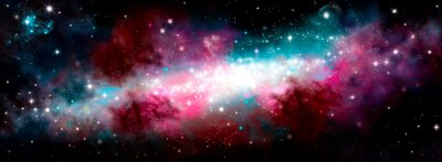 Adesivo Star nebula birth of a galaxy. The birth of the galaxy. Shining stars. Star nebula. Cluster of stars. The night starry sky. Space background. Spase. Universe
