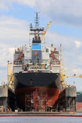 Adesivo Statek na pływającym doku