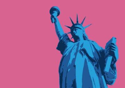 Adesivo Statue de la liberté - Nova Iorque - symbole, américain - décoration - déco - fond