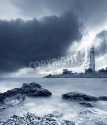Adesivo storm on the sea