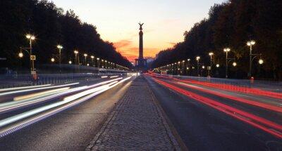 Adesivo Straße des 17. Juni em Berlim com Siegessäule