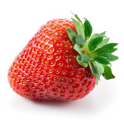 Adesivo Strawberry isolated on white background