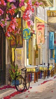 Adesivo Street, em Roma - ilustração