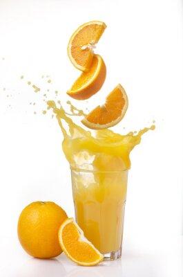 Adesivo succo d'arancia splash