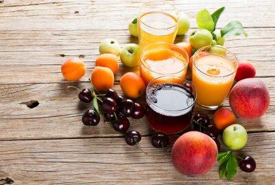 Adesivo Sucos de frutas frescas
