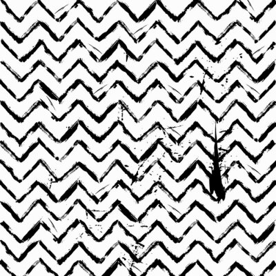 Adesivo Sumário, seamless, zig zag, Padrão, pretas, branca