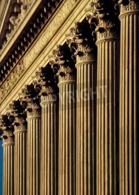 Adesivo Supremo tribunal dos Estados fachada e colunas