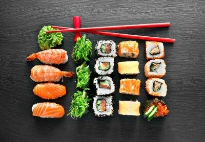 Adesivo Sushi, jogo, chopsticks