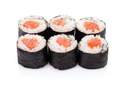 Adesivo Sushi maki de salmão