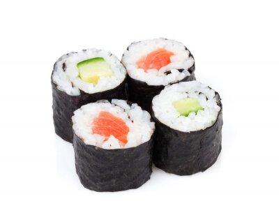 Adesivo Sushi maki de salmão e pepino conjunto