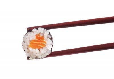 Adesivo Sushi no fundo branco