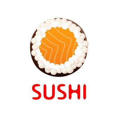 Adesivo Sushi, rolo, branca