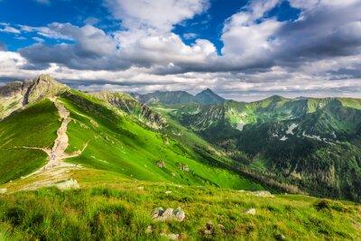 Adesivo Tatra montanhas picos em dia ensolarado