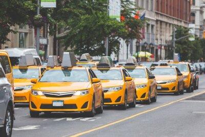 Adesivo Táxi amarelo típico na cidade de Nova Iorque