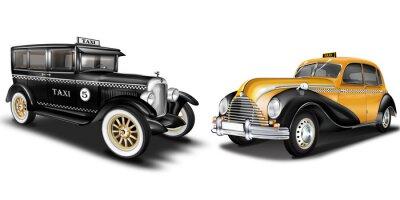Adesivo Taxi Oldtimer, freigestellt