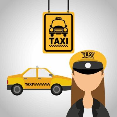Adesivo taxi service