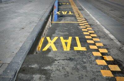 Adesivo TAXI - sinal na estrada