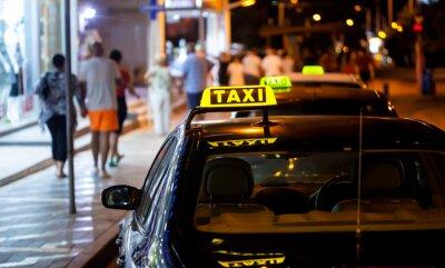 Adesivo Táxi, sinal, noturna