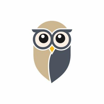 Adesivo Template Logo Owl