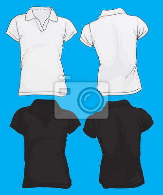 aab0053f8c2e5 Template polo camisa das mulheres laptop adesivos • adesivos para a ...