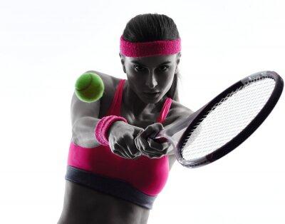 Adesivo tênis silhueta da mulher Retrato do jogador
