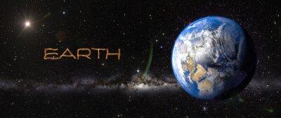 Adesivo Terra no espaço.