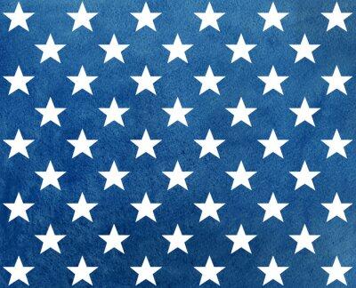 Adesivo Teste padrão azul escuro abstrato da aguarela com estrelas brancas.
