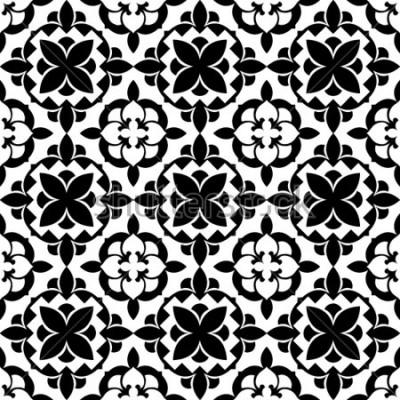 Adesivo teste padrão floral ornamental