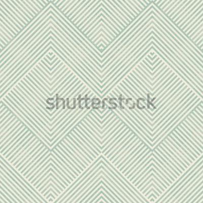 Adesivo Teste padrão geométrico abstrato sem emenda na turquesa e bege no fundo da textura. Padrão sem fim pode ser usado para telha cerâmica, papel de parede, linóleo, têxteis, fundo de página da web.