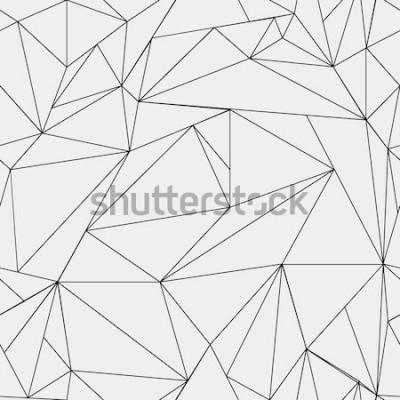 Adesivo Teste padrão minimalista preto e branco simples geométrico, triângulos ou janela de vidro colorido. Pode ser usado como papel de parede, plano de fundo ou textura.