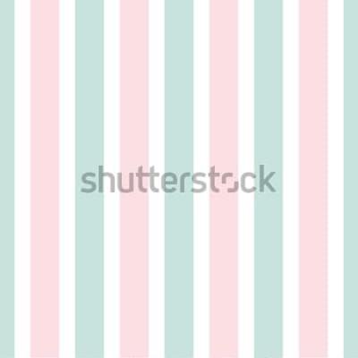 Adesivo Teste padrão sem emenda da listra geométrica da cor cor-de-rosa e verde. Ilustração festiva. Papel de parede linha vertical. Fundo de embrulho elegante.